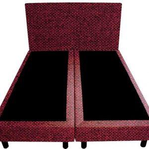 Bedworld Boxspring 200x200 - Tweedlook - Bordeaux rood (M63)