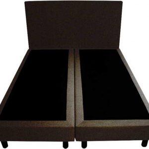 Bedworld Boxspring 200x200 - Velours - Donker bruin (ML29)