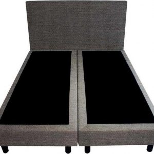 Bedworld Boxspring 200x200 - Waterafstotend grof - Antraciet (P96)