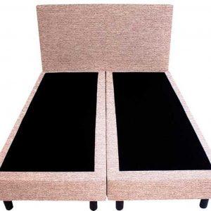 Bedworld Boxspring 200x200 - Waterafstotend grof - Licht roze (P61)
