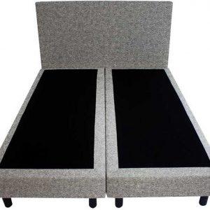 Bedworld Boxspring 200x200 - Wol look - Licht grijs (WL85)