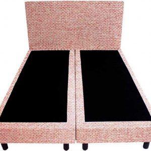 Bedworld Boxspring 200x210 - Tweedlook - Licht roze (M61)