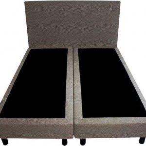 Bedworld Boxspring 200x220 - Lederlook - Donker grijs (MD996)
