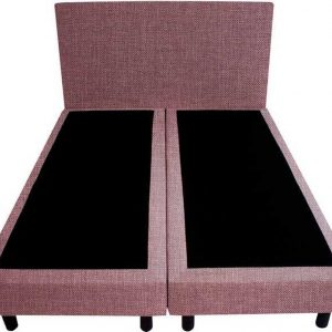 Bedworld Boxspring 200x220 - Linnenlook - Oud roze (S61)