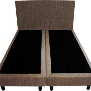 Bedworld Boxspring 200x220 - Seudine - bruin (ONC29)