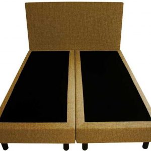 Bedworld Boxspring 200x220 - Velours - Okergeel (ML48)