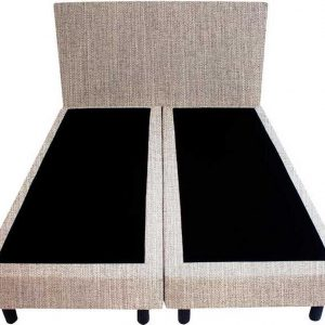 Bedworld Boxspring 200x220 - Waterafstotend fijn - Wit grijs (MV83)