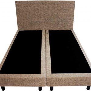 Bedworld Boxspring 200x220 - Waterafstotend grof - Licht bruin (P15)