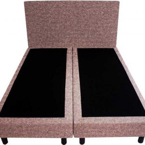 Bedworld Boxspring 200x220 - Wol look - Oud roze (WL61)