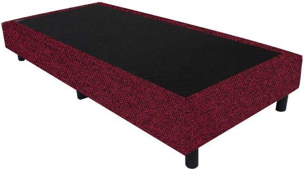 Bedworld Boxspring 80x210 - Tweedlook - Bordeaux rood (M63)