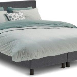 Beter Bed Basic box Ambra vlak met Easy Pocket matras - 160 x 200 cm - donkergrijs