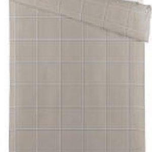 Blokker dekbedovertrek ruit - 140x220 cm - grijs