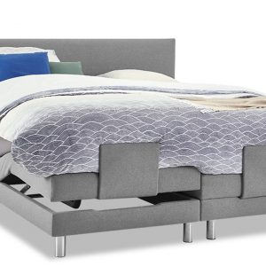 Boxspring Intense Sleep Verstelbaar Met Slow Motion 3 Matras - 140 x 200 cm - grijs