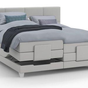 Boxspring Solid Trend Verstelbaar Met Gestoffeerd Matras - 180 x 210 cm - grijs