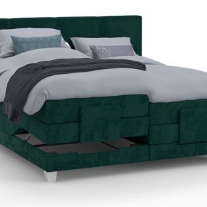 Boxspring Solid Trend Verstelbaar Met Gestoffeerd Matras - 180 x 210 cm - groen