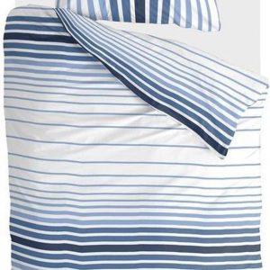 Byrklund Dekbedovertrek Beach Feel with Stripes - 140x220 - 100% Katoen - Blauw / Wit