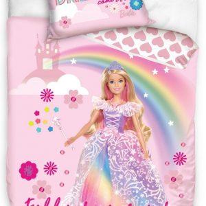Carbotex Dekbedovertrek Barbie Prinses 140 X 200 Cm Roze