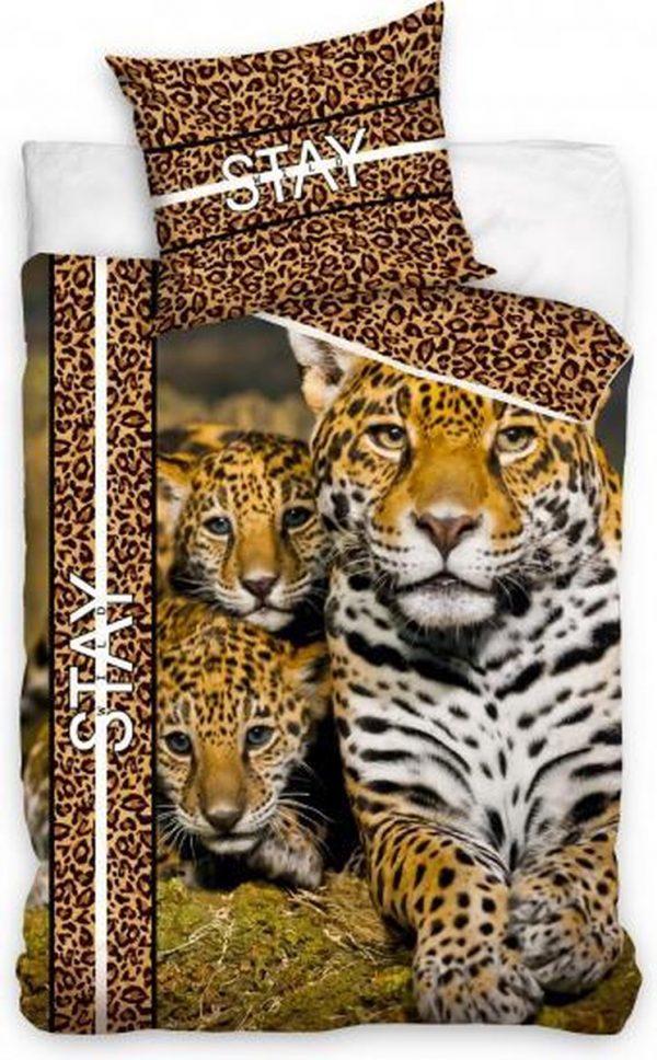 Carbotex Dekbedovertrek Cheetah 200 X 140 Cm Katoen Bruin/goud