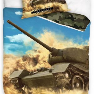 Carbotex Dekbedovertrek Tank 200 X 140 Cm Katoen Groen/blauw