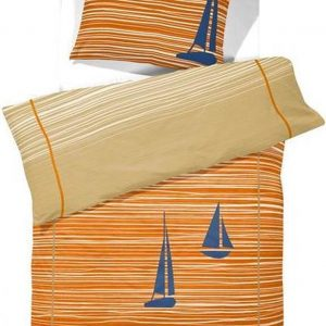 Cinderella Dekbedovertrekset katoen 140 x 200/220 cm boats burned orange