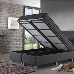 Complete Opbergboxspring 140x200 cm - Dreamhouse Space - Twijfelaar bed/boxspring met opbergruimte