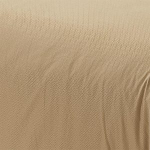 Dekbedovertrek Aberdeen - Zand - 1-persoons (140 x 200/220 cm + 1 kussensloop) - Polyester - Zand - Hotel Home