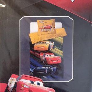 Disney Pixar Cars Eenpersoons Dekbedovertrek 140 x 200 cm + Kussensloop 60 x 70 cm
