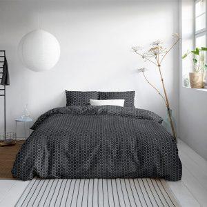 DreamHouse Bedding Orazio - Antraciet 1-persoons (140 x 200/220 cm + 1 kussensloop) Dekbedovertrek