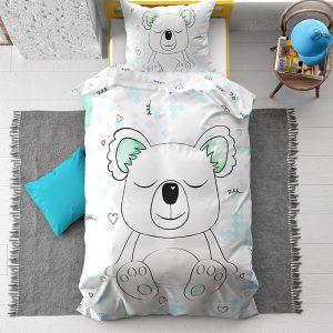 Dreamhouse - Sleepy Koala 100% Katoen - Wit - 140 x 200