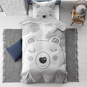 Dreamhouse - Sweet Bear 100% Katoen - Grijs - 140 x 200