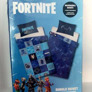 Fortnite dubbelzijdig - 140 x 200 cm - eenpersoons - blauw