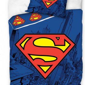 Generic Dekbedovertrek Superman 140 X 200 Cm Katoen Blauw