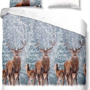 Good Morning Deer Dekbedovertrek nr.6333 - Maat: 200x200+2-80x80 cm - Grey