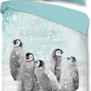 Good Morning Pinguïns Flanel 140 x 200/220 cm