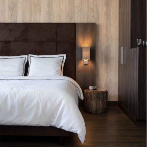 Hotel Home Collection London Kleur: Truffel, 1-persoons (140 x 200/220 cm) Dekbedovertrek