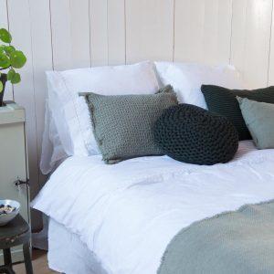 House in Style Luxe dekbedovertrek Geneve 100% katoen, 140 x 220 cm, wit