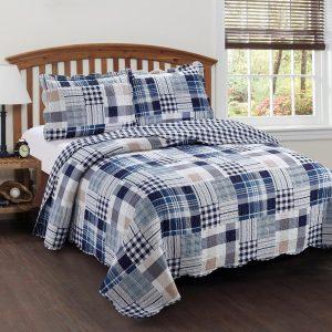 Lavandoux - Bedsprei - Quilt - Blue Loft - 140x200 - 1-persoons - Blauw