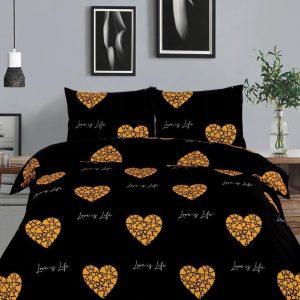 Love Gold - Dekbedovertrek - 140x220