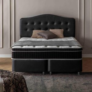 Maison Interiors - Excellent Black Premium Opbergboxspring - 140x200