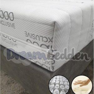 Matras 90x200 Nasa Traagschuim 9-zones pocketvering Bamboo Exclusive Ca. 21cm Dik