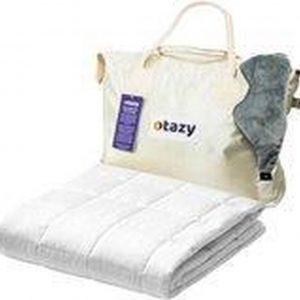 Otazy Verzwaringsdeken 11,5 Kg - 200 x 200 cm - Ecru - 7 lagen - Organisch Katoen - Weighted blanket - (gemiddeld) lichaamsgewicht van 75 tot 90 kg. - Mét draagtas en verzwaringsmasker!