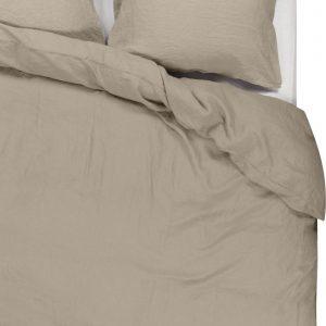 Passion for Linen Luxe dekbedovertrek Maxime 100% linnen, 140 x 220 cm, zandkleur