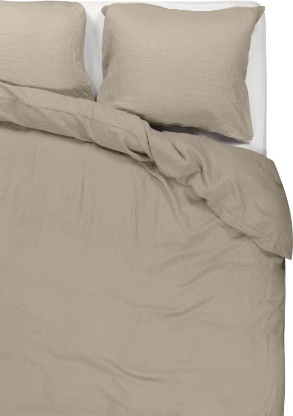 Passion for Linen Luxe dekbedovertrek Maxime 100% linnen, 240 x 220 cm, zandkleur