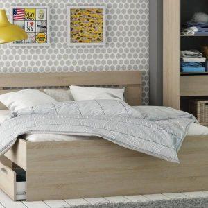 Twijfelaar bed Eik (140x200) Michigan compleet met bedbodem en matras