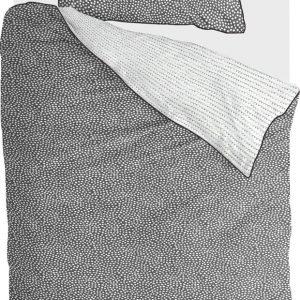 Walra Dekbedovertrek Dots & Doodles - 140x220 - 100% Katoen - Antraciet