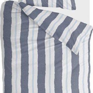 Walra Dekbedovertrek Remade Nautic Stripes - 140x220 - 100% katoen - Donker Blauw