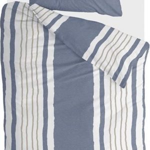 Walra Dekbedovertrek Remade Painted Stripes - 140x220 - 100% katoen - Jeans Blauw