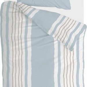 Walra Dekbedovertrek Remade Painted Stripes - 140x220 - 100% katoen - Licht Blauw