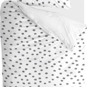 Walra Dekbedovertrek Silver Spots - 140x220 - 100% Katoen - Wit