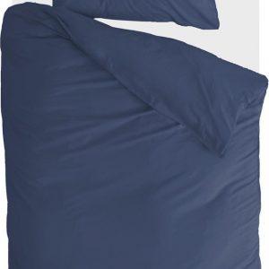 Walra Dekbedovertrek Soft Structure - 140x220 - Donker Blauw - 100% Katoen